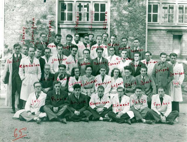 Trombinoscope de la 65e promotion de l'ESPCI