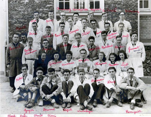 Trombinoscope de la 67e promotion de l'ESPCI