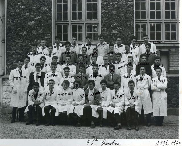 Trombinoscope de la 75e promotion de l'ESPCI