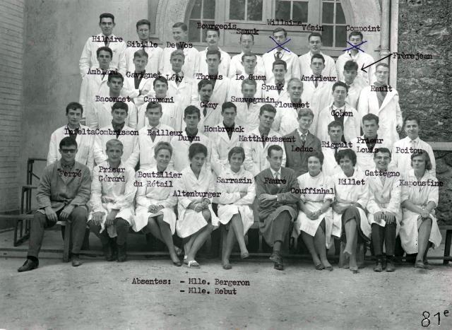 Trombinoscope de la 81e promotion de l'ESPCI