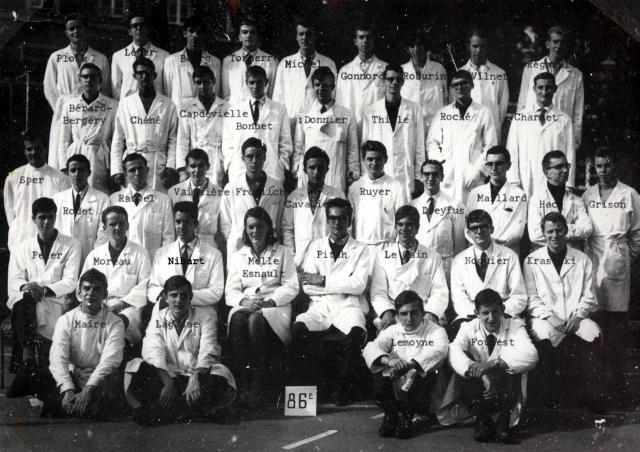Trombinoscope de la 86e promotion de l'ESPCI
