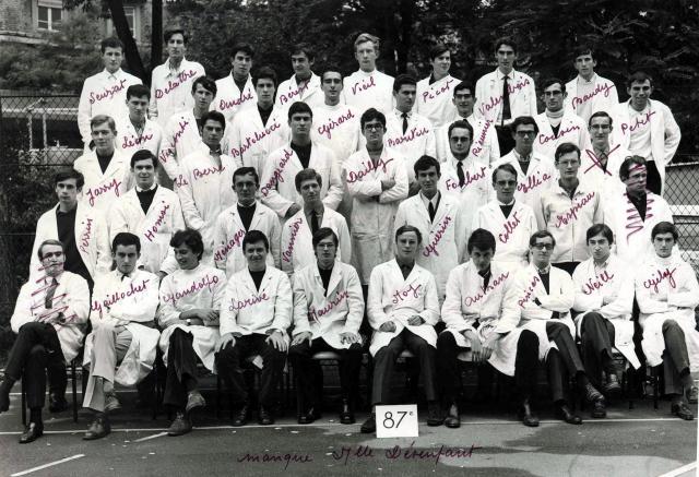 Trombinoscope de la 87e promotion de l'ESPCI