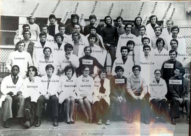Trombinoscope de la 91e promotion de l'ESPCI